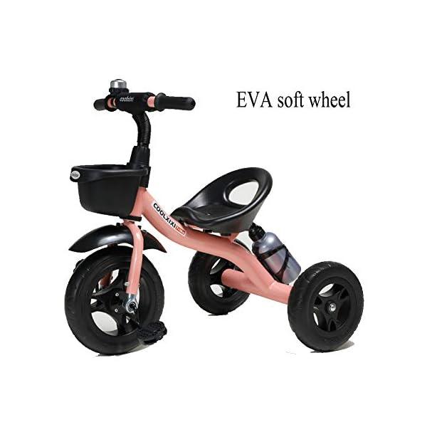 GSDZSY - Children Kids Tricycle 3 Wheel Bike,High Carbon Steel Body, EVA Wheel, Seat And Handlebars Adjustable,2-6 Years,B GSDZSY  1
