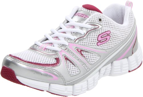 Skechers Stride In Control 11637 SLPK, Baskets mode femme Argent-TR-SW19