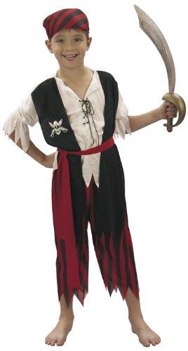 Kostüm Karibik Kind Junge Pirat - Patry-Partners 86870 Kinder-Kostüm Pirat, 4-6 Jahre -Piraten-Kostüm-
