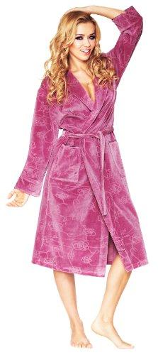 Wanmar Femme Velour Robe de Chambre Lily Violet Clair