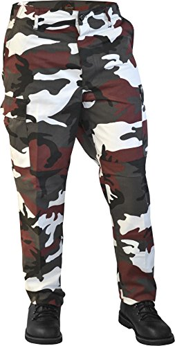 Red Camo Shorts (normani US Army Ranger Cargo Hose Farbe Red-Camo Größe XL)