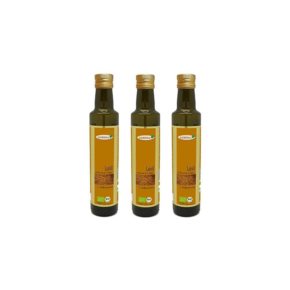 Adrisan Leinl 1 Kaltpressung Bio 3er Pack 3 Flaschen 750 Ml