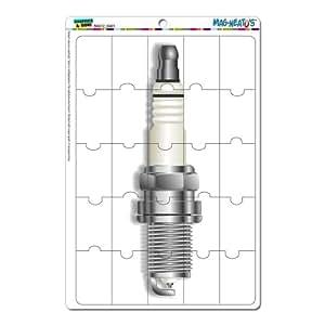 Bougie d'allumage–Moteur mag-neato' S Panneau de signalisation voiture (TM) nouveauté cadeau Casier en vinyle Réfrigérateur Puzzle aimant set