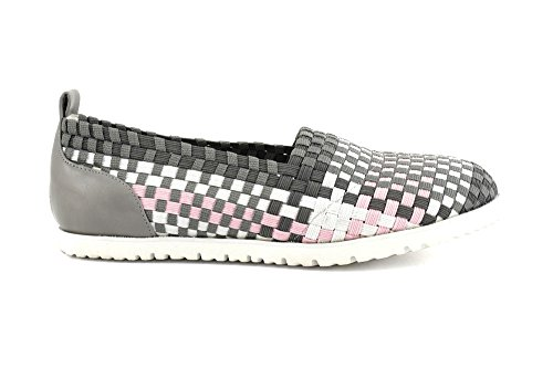 Cafè Noir OEG940555390 E16.555 MULTIGRIGIO 39 SLIP ON IN ELASTICO MULTICOLOR INTRECCIATO
