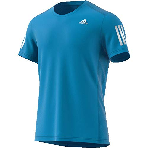 adidas Herren OWN The Run T-Shirt, Shock Cyan/Reflective Silver, M