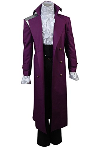 Purple Rain Mantel Cosplay Kostüm Herren XXL (Kostüm Rain Prince Purple)