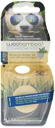 Woobamboo Fil de Soie Dentaire Biodégradable avec Cire dAbeille Naturelle/Menthe Biologique 37,5 m