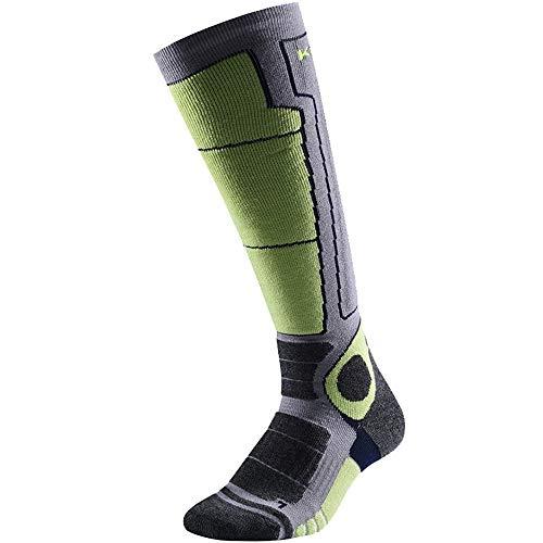 ASDFGG-hm Skisocken Herren-Ski-Socken Outdoor Sports Thick Warm atmungsaktiv Winter Snowboard Socken Herren Kniestrümpfe 43-45 (Farbe : Grau, Größe : L)