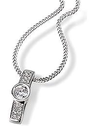 Goldmaid chaîne pour femme avec pendentif en argent 925 rhodié sertie de zirconium-blanc - 45 cm pa-c7307S