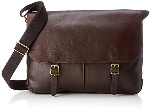 Fossil Canvas Taschen (Fossil Herren Herrentasche - Haskell Messenger Business Tasche, Braun (Dark Brown), 7.62x30.48x40.64 cm)