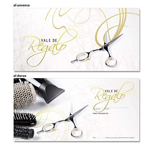 50 vales de regalo para peluqueros, barberos y estilistas K9273E