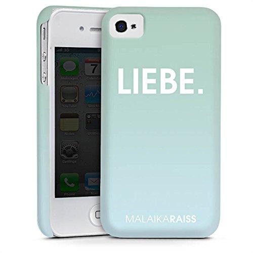 Apple iPhone 5s Housse Étui Protection Coque Amour Amour Menthe Cas Premium mat