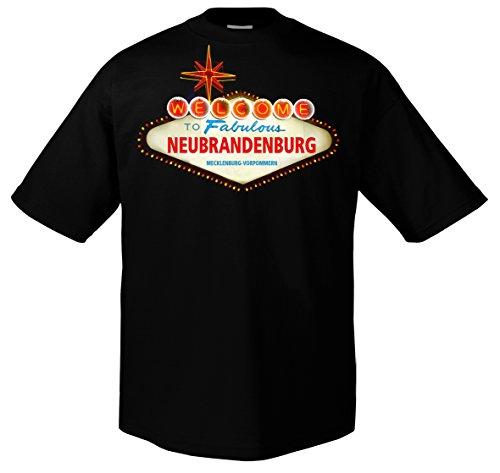 FUN Welcome to Neubrandenburg Mecklenburg-Vorpommern Funshirt Deine Stadt Las Vegas 703751 Herren T-Shirt 001 L