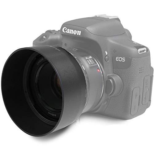 ES-68 Ersatz Gegenlichtblende für Canon EF 50 mm F/1.8 STM Objektiv | 1:1 | MOVOJA | Sonnenblende Streulichblende Geli | Für EF-Objektive | ES 68 ES68 - Stm-ersatz