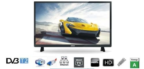 Akai-smart-Tv-Led-32-AKTV3223T-Hd-DVB-T2-Hdmi-Usb-Vga-Nero