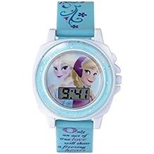Frozen Girl 's reloj digital con pantalla digital de esfera azul y correa de plástico azul fzn3677