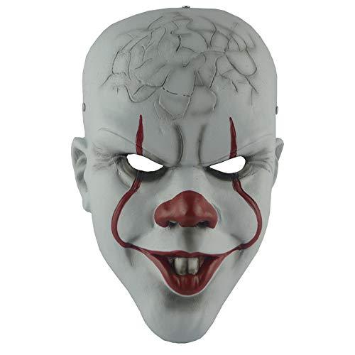 Clown Maske Penny Wise Horror Joker Masker Scary Vollmasken Mascaras Halloween Cosplay Kostüm - 3 Wise Mann Kostüm