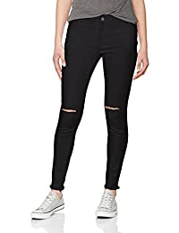 Urban Classics Femme Jeans / Jeans Straight Fit Ladies Cut Knee