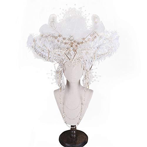 t Flower Mesh Bänder EIN Clip Tea Party Headwear für Mädchen und Frauen Catwalk Performance Hat ()