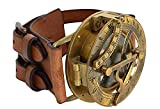 ASIAN NAUTICAL STORE Steampunk Retro Heavy Messing Sonnenuhr Kompass Armbanduhr
