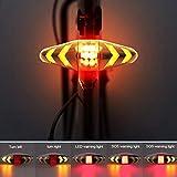 LAMP SUI Fahrradrücklicht Blinker mit drahtlosem Fahrradrücklicht Warnlicht Fahrrad Rückleuchte...