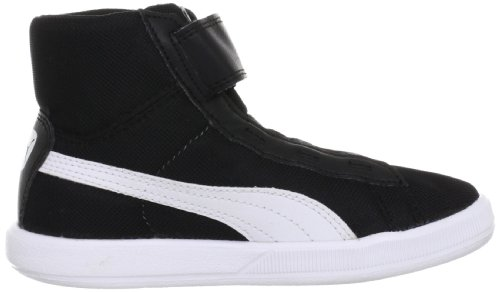 Puma Archive Lite Mid V Kids, High-top mixte enfant Noir - Schwarz (black-white 04)