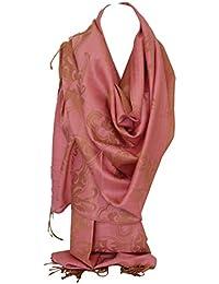 Bullahshah Qualité deux faces impression libre en relief Pashmina sensation Wrap  écharpe étole châle 0b34cd13ef8