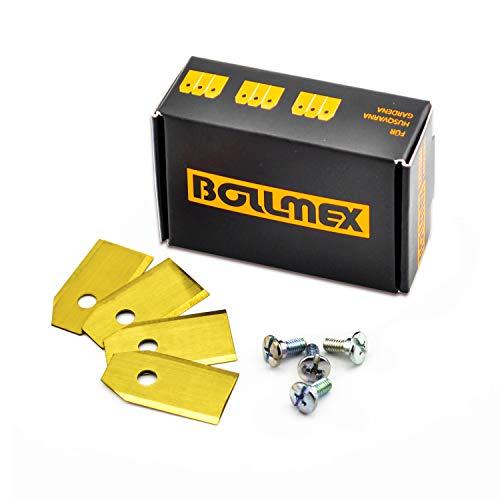 30bollmex Titan Cuchillo 0,75mm Cuchillas con 30tornillos compatible con Husqvarna Automower Gardena Robot cortacésped 105310315320420430x r40i y otros (larga duración)