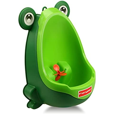 Foryee?Cute Frog Potty Training Urinal for Boys with Funny Aiming Target - Blackish Green by Foryee - Blu Potty
