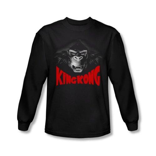 King Kong-Face, Kong-Camicia a maniche lunghe, colore: nero nero Large