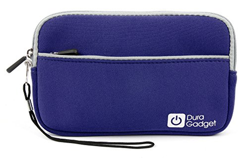 "DURAGADGET Baby Blue Lightweight Splash Resistant Neoprene Cushioned Cover With Exterior Zip Pocket & Dual Zips - Compatible with I-Onik TP785-12000C, Intenso 7"" TAB 724, lenovo IdeaTab A3000, Lenovo S5000, Blaupunkt Endeavour TV seven, Blaupunkt Polaris"
