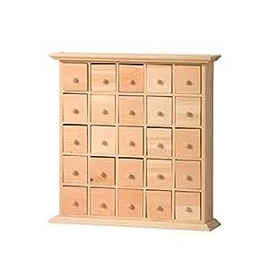 Artemio cassettiera in legno con 25 cassetti colore for Cassettiera amazon
