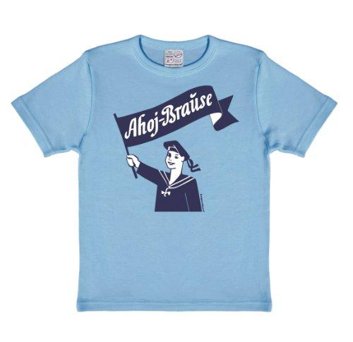 Matrose - Ahoj Brause T-Shirt Kinder - hellblau - Lizenziertes Originaldesign - LOGOSHIRT, Größe 92/98, 2-3 Jahre Cola Kostüm Kinder