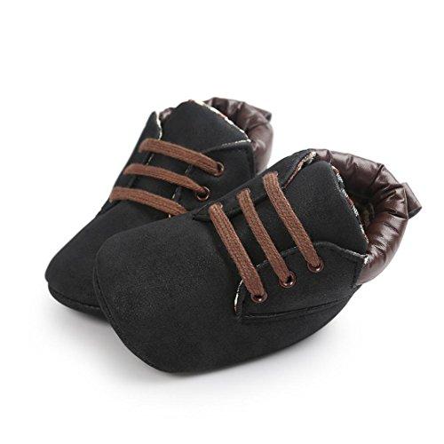 Baby Kinder Weiche Sohle Leder Schuhe, Zolimx Junge Mädchen Kleinkind Boots Schwarz