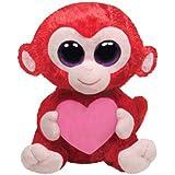 Ty Charming Beanie Boos Affe mit Herz u. Glitzeraugen 15 cm