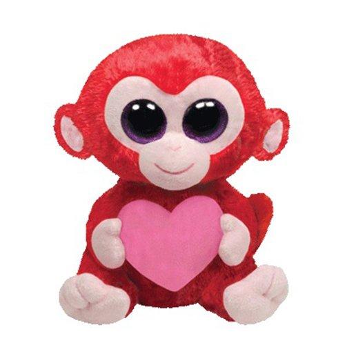 "Beanie Boo Valentine's Monkey - Charming - 15cm 6"""
