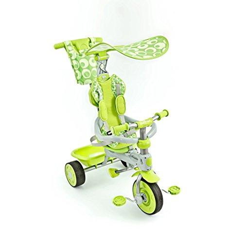 Dreirad 3in1 Sunny mit Teleskoplenkstange von UNITED-KIDS, verschiedene Farben, Farbe:Grün