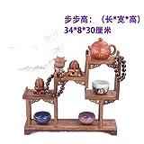 GWDecor Antik Redwood Regal Chinesisch Traditionelle Handarbeit Geschnitzt Retro Möbel Kreativ Fashion Home Schreibtisch Einrichtung Mini Schmuck Storage Backgammon Form