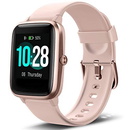 Letsfit Smartwatch, Fitness Tracker Voll Touchscreen Fitness Armband Uhr mit Pulsmesser Schlafmonitor Musiksteuerung, Sportuhr Schrittzähler für Frauen Männer Smart Watch für Android und iOS