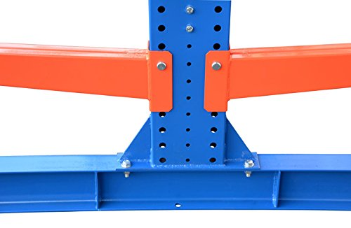 4,9m Kragarmregal doppelseitig, 200cm hoch, 50cm tief, 3 Kragarmebenen – Langgutregal Schwerlastregal - 2
