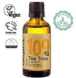 Naissance Tea Tree Essential Oil (#109) 50ml - Pure, Natural, Cruelty Free, Vegan & Undiluted