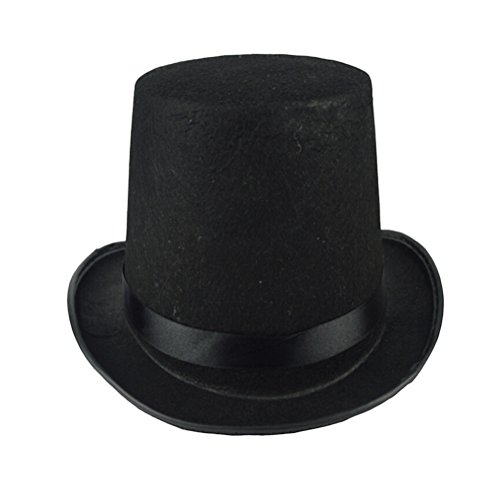 Amosfun Black Bowler Hat Zaubererkostüm Dress up Kostüm Zubehör für Männer Adult Fancy Dress Party