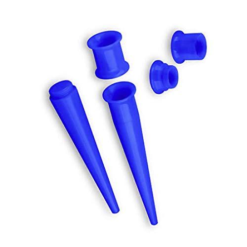 Piersando Dehnungsstab Ohr Piercing Dehnstift Dehner Ohrdehner Dehnstab Flesh Tunnel Plug Expander Taper Stab Gerade 8mm Blau