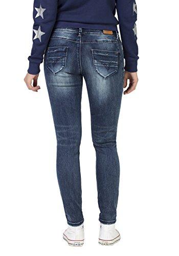 Timezone Damen Skinny Jeans Tight Trish Super Stretch Blau (Blue Patriot Wash 3624)