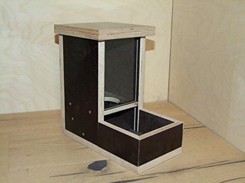 the-wood-man`s_76 : Hamster-Hasen und ähnliche Kleintier- Futterspender aus Siebdruck ( Neuware ). Mit 4 mm Plexiglass. Komplett