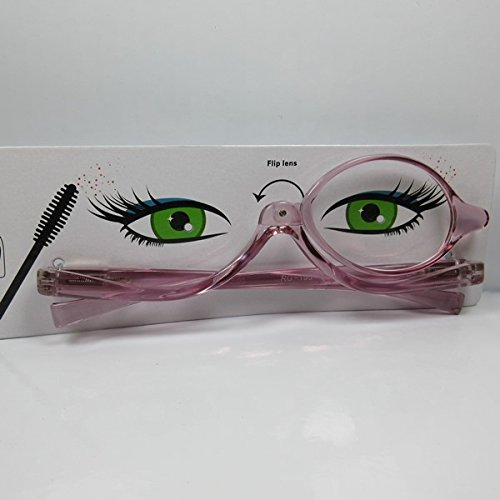 Damen Schminkbrille Lesebrille Make Up-Brille Schminkhilfe lila +2,0