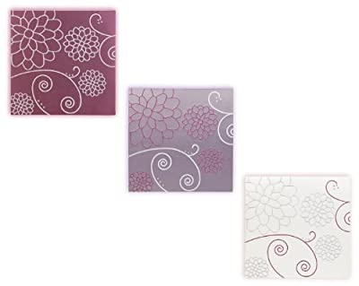 3 Piece Faux Silk Barton Multi Canvas Wall Art