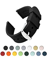 Archer Watch Straps | Silicone Quick Release Soft Rubber Replacement Watch Bands for Men and Women, Watches and Smartwatches | Multiple Colors (16mm, 18mm, 20mm, 22mm, 24mm)