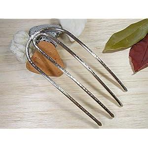 Forke Haarforke,aus Alpaka,Handgefertigt, Haargabel,Haarschmuck,Haar Accessoires.Geschenkidee!!!