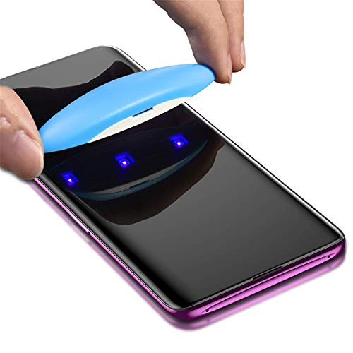 Vikimen Ausgeglichenes Glas-Film, Schirm-Schutz, UV Tempered Glass for Samsung Note 9 8 S9 S8 S7 Edge 5D Full Liquid Glue Screen Protector for Samsung Galaxy Note 8 S8 S9 Plus UV Glass S7 Edge -